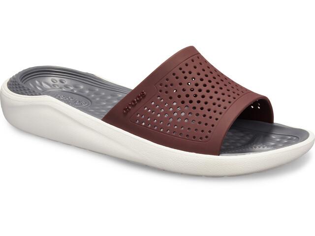Crocs LiteRide Slides-sandaali, burgundy/white